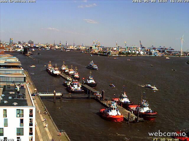 time-lapse frame, Auslaufparade, Hafengeburtstag 2016, Hamburg webcam