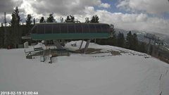 view from Angel Fire Resort - Chile Express on 2018-02-19