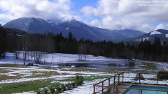 view from Olympic View Cabins Hurricane Ridge Cam on 2018-02-26