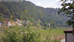 view from Webcam in Bad Schandau Sächsische Schweiz on 2018-06-17
