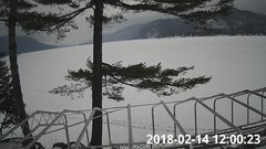 view from Bluffhead Hullets Landing, NY on 2018-02-14