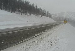 view from 4 - Highway 50 Road Conditions on 2018-02-19
