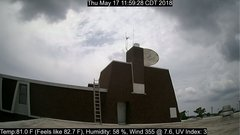 view from University Place Apartments - South Weather on 2018-05-17