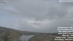 view from 1 Sotra island, W-Norway on 2018-10-22