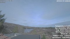view from 1 Sotra island, W-Norway on 2019-03-19