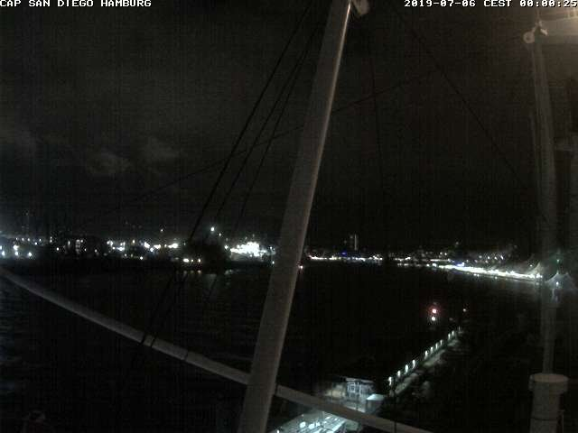 time-lapse frame, Cap San Diego webcam
