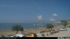view from Arillas Corfu Live Webcam on 2018-10-14