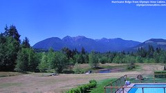 view from Olympic View Cabins Hurricane Ridge Cam on 2018-07-11