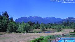 view from Olympic View Cabins Hurricane Ridge Cam on 2018-07-12