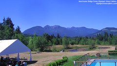 view from Olympic View Cabins Hurricane Ridge Cam on 2018-07-14