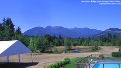 view from Olympic View Cabins Hurricane Ridge Cam on 2018-07-15