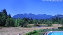 view from Olympic View Cabins Hurricane Ridge Cam on 2018-07-16