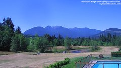 view from Olympic View Cabins Hurricane Ridge Cam on 2018-07-17