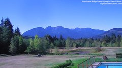 view from Olympic View Cabins Hurricane Ridge Cam on 2018-09-19
