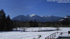 view from Olympic View Cabins Hurricane Ridge Cam on 2019-03-10
