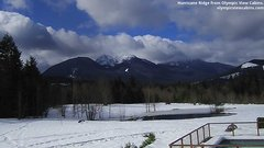 view from Olympic View Cabins Hurricane Ridge Cam on 2019-03-12