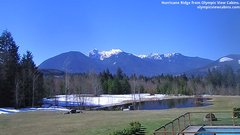 view from Olympic View Cabins Hurricane Ridge Cam on 2019-03-20