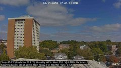 view from University Place Apartments - North Weather on 2018-10-15