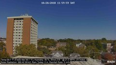 view from University Place Apartments - North Weather on 2018-10-20