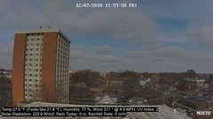 view from University Place Apartments - North Weather on 2018-12-07