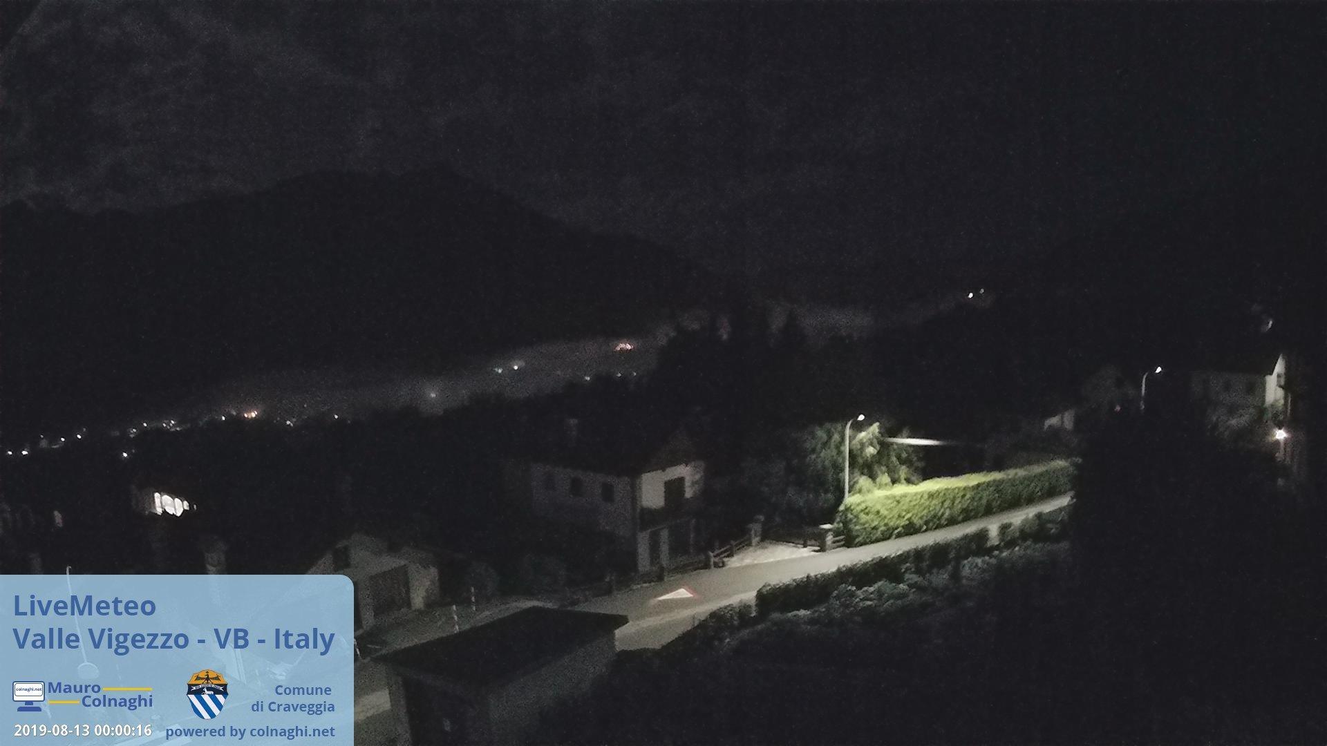 time-lapse frame, Valle Vigezzo webcam