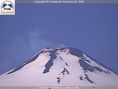view from Villarrica Volcano on 2019-02-07
