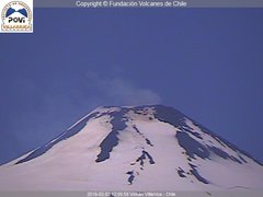 view from Villarrica Volcano on 2019-02-08