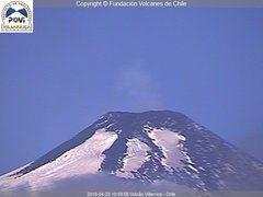 view from Villarrica Volcano on 2019-04-20