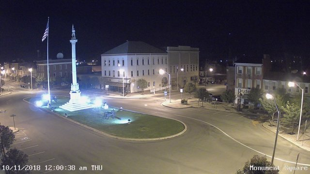 time-lapse frame, Monument Square Center webcam
