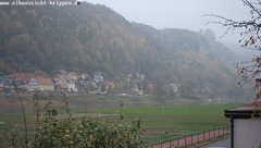 view from Webcam in Bad Schandau Sächsische Schweiz on 2018-10-19