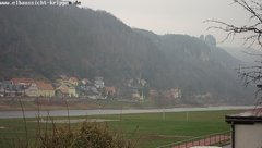 view from Webcam in Bad Schandau Sächsische Schweiz on 2018-12-02