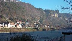 view from Webcam in Bad Schandau Sächsische Schweiz on 2018-12-05