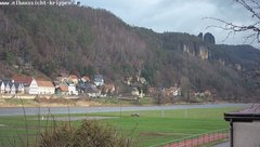 view from Webcam in Bad Schandau Sächsische Schweiz on 2018-12-10