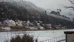 view from Webcam in Bad Schandau Sächsische Schweiz on 2019-01-10