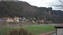 view from Webcam in Bad Schandau Sächsische Schweiz on 2019-01-16