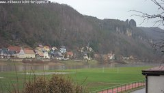 view from Webcam in Bad Schandau Sächsische Schweiz on 2019-01-17
