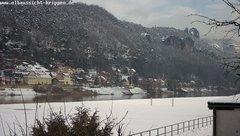 view from Webcam in Bad Schandau Sächsische Schweiz on 2019-02-04