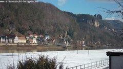 view from Webcam in Bad Schandau Sächsische Schweiz on 2019-02-09