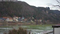 view from Webcam in Bad Schandau Sächsische Schweiz on 2019-02-10