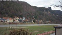 view from Webcam in Bad Schandau Sächsische Schweiz on 2019-02-11