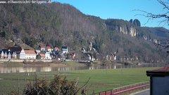 view from Webcam in Bad Schandau Sächsische Schweiz on 2019-02-14
