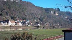 view from Webcam in Bad Schandau Sächsische Schweiz on 2019-02-15
