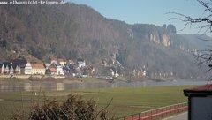 view from Webcam in Bad Schandau Sächsische Schweiz on 2019-02-17