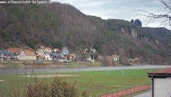 view from Webcam in Bad Schandau Sächsische Schweiz on 2019-03-08