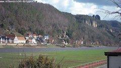 view from Webcam in Bad Schandau Sächsische Schweiz on 2019-03-11