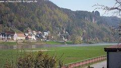 view from Webcam in Bad Schandau Sächsische Schweiz on 2019-04-10