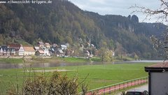 view from Webcam in Bad Schandau Sächsische Schweiz on 2019-04-11