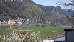 view from Webcam in Bad Schandau Sächsische Schweiz on 2019-04-20