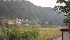view from Webcam in Bad Schandau Sächsische Schweiz on 2019-06-07