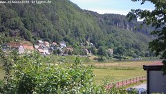 view from Webcam in Bad Schandau Sächsische Schweiz on 2019-06-09